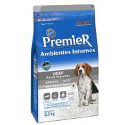 Ração Premier Cães Adultos Ambientes Internos Light - 2,5 KG