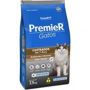 Ração Premier Gatos Castrados até 7 anos Ambientes Internos Salmão 7,5Kg