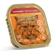 Ração Úmida Special Cat Patê Carne Gatos Castrados 100Gr