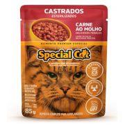 Ração Úmida Special Cat Sachê Carne Gatos Castrados 85Gr