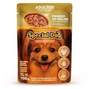 Ração Úmida Special Dog Sachê Frango Cães Racas Pqna Adultos 100g
