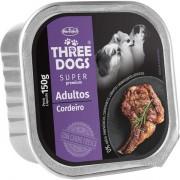 Ração Úmida Three Dogs Super Premium Patê Cordeiro Cães Adultos 150g
