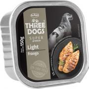 Ração Úmida Three Dogs Super Premium Patê Frango Light Cães Adultos 150g
