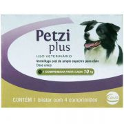 Vermífugo Ceva Petzi Plus 700 mg para Cães - 4 Comprimidos
