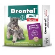 Vermífugo Drontal Plus Cães Sabor Carne ate 10kg