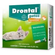 Vermífugo Drontal SpotOn para Gatos de 0,5 Kg a 2,5 Kg 1 Bisnaga