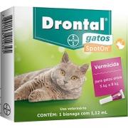 Vermífugo Drontal SpotOn para Gatos de 5 Kg a 8 Kg