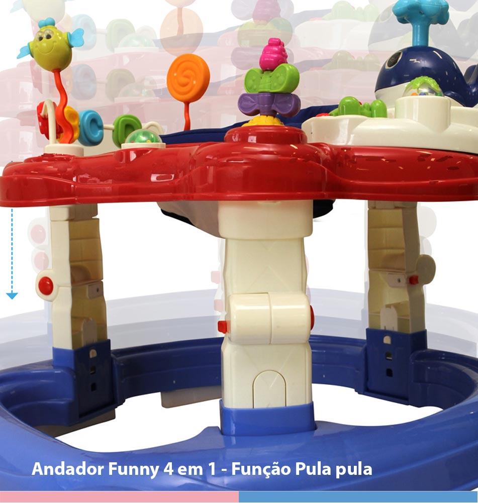 Andador Infantil Funny 4 Em 1 Color - Galzerano
