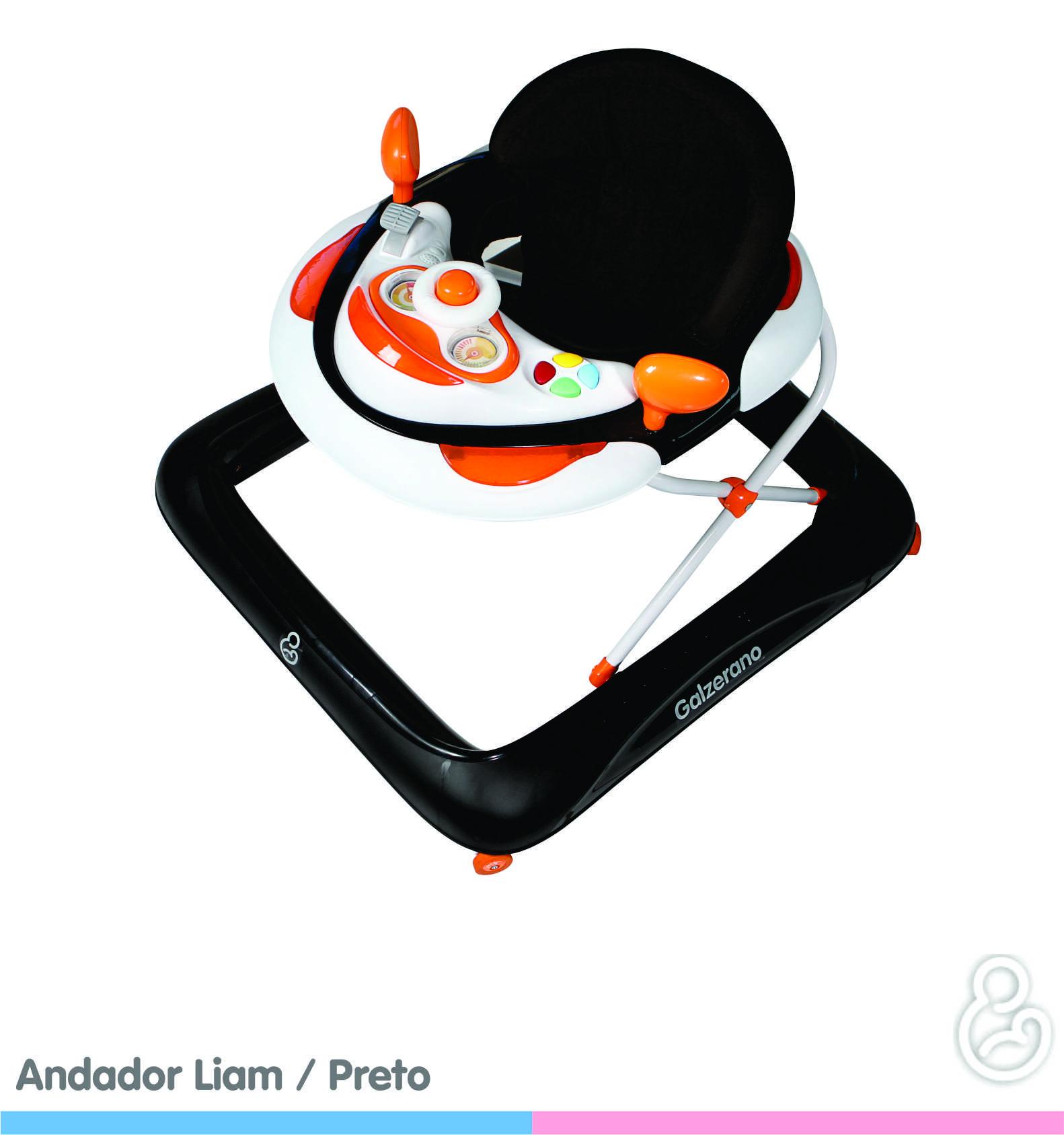 Andador para Bebê Galzerano Liam - Preto