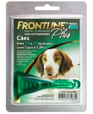 Antipulgas e Carrapatos Frontline Plus para Cães de 10 a 20 Kg