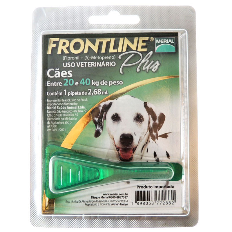 Antipulgas e Carrapatos Frontline Plus para Cães de 20 a 40 Kg