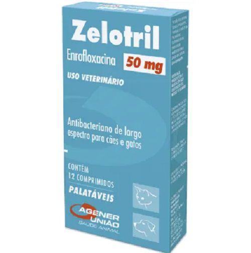 Antibacteriano Agener União Zelotril 50mg 12 comprimidos