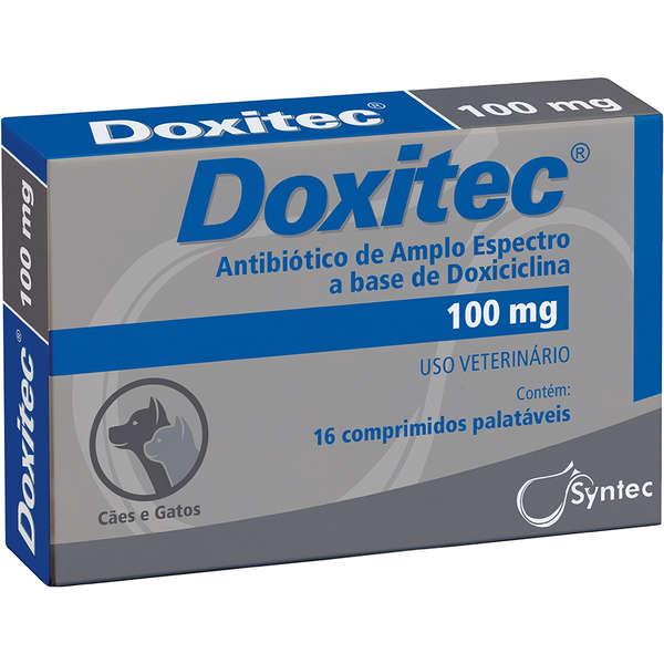 Antibiótico Doxitec Syntec 100mg 16 comprimidos