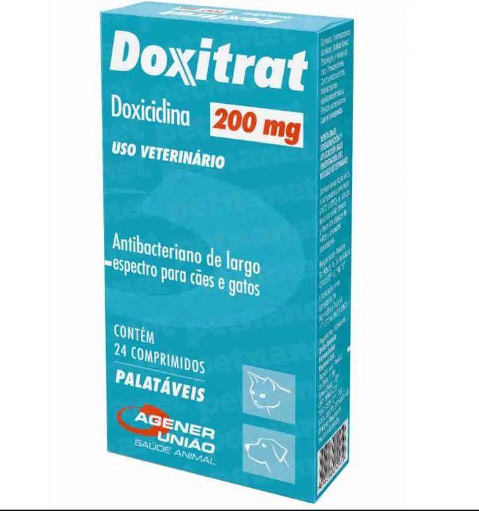 Antibiótico Doxitrat 200mg 24 Comprimidos