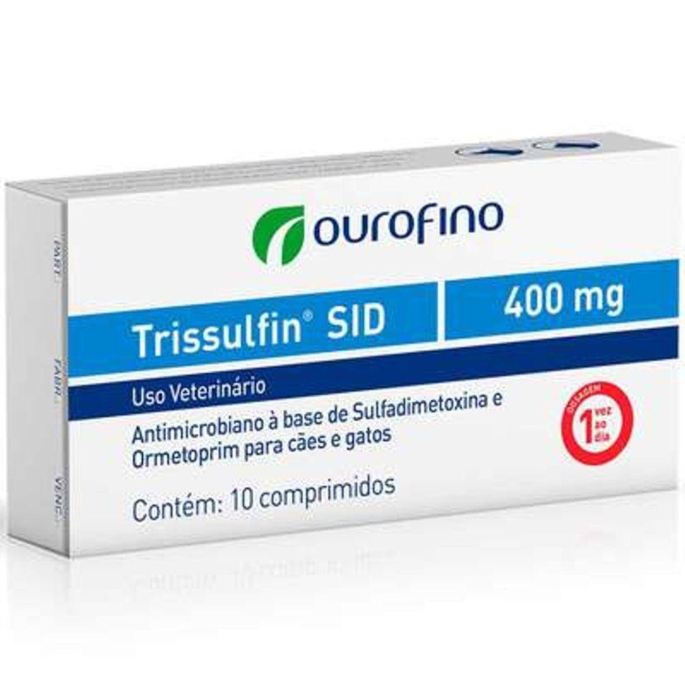Antibiótico Trissulfin 400mg 10 Comprimido