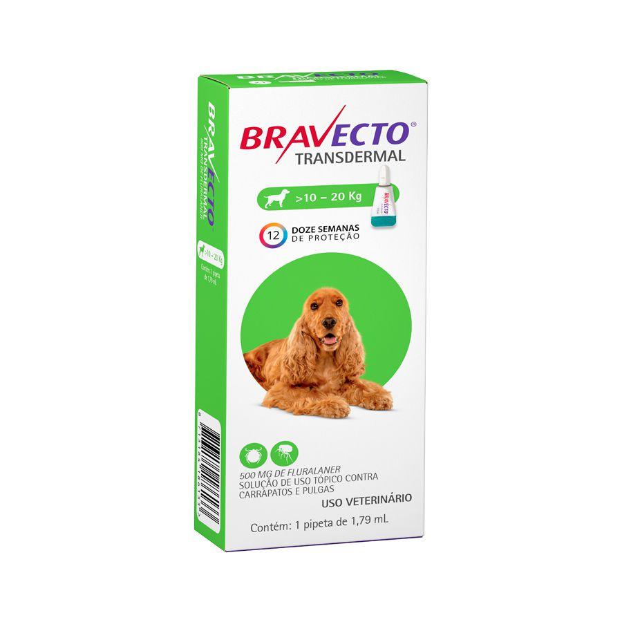 Antipulgas e Carrapatos MSD Bravecto Transdermal para Cães de 10 a 20 Kg