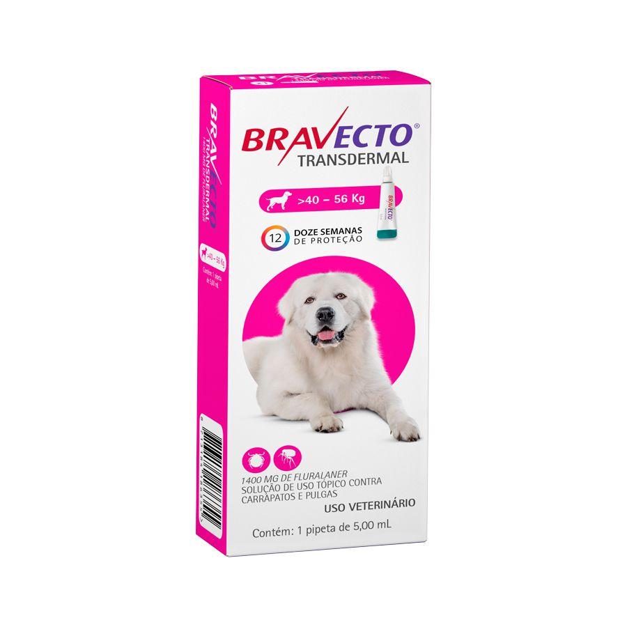 Antipulgas e Carrapatos MSD Bravecto Transdermal para Cães de 40 a 56 Kg