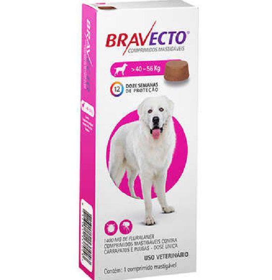 Antipulgas e Carrapatos MSD Bravecto para Cães de 40 a 56 Kg