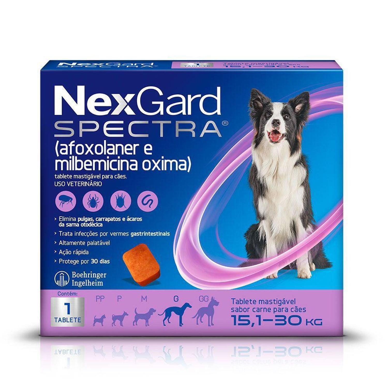 Antipulgas e Carrapatos NexGard Spectra Cães de 15,1 a 30 Kg 1 Tablete