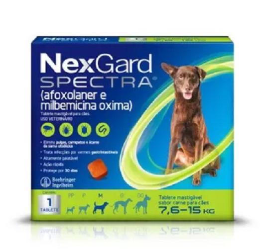 Antipulgas e Carrapatos NexGard Spectra Cães de 7,6 a 15 Kg 1 Tablete
