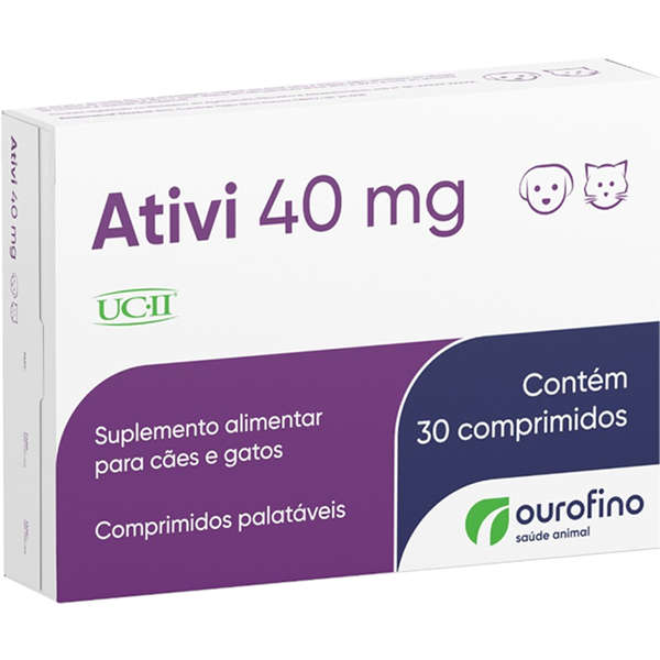 Ativi 40mg Ucii 30 Compr Ouro Fino Regenerador Articular