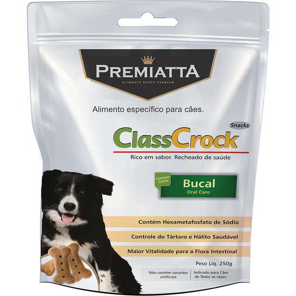 Biscoito Premiatta ClassCrock Snacks Bucal Cães 250g