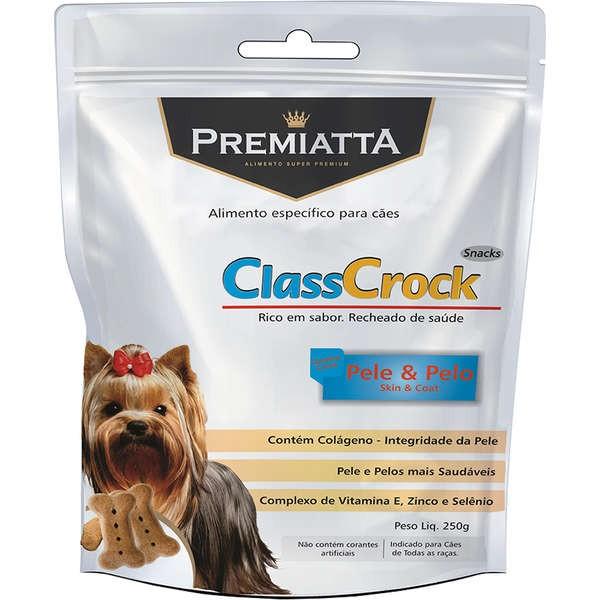 Biscoito Premiatta ClassCrock Snacks Pele & Pelo Cães 250g