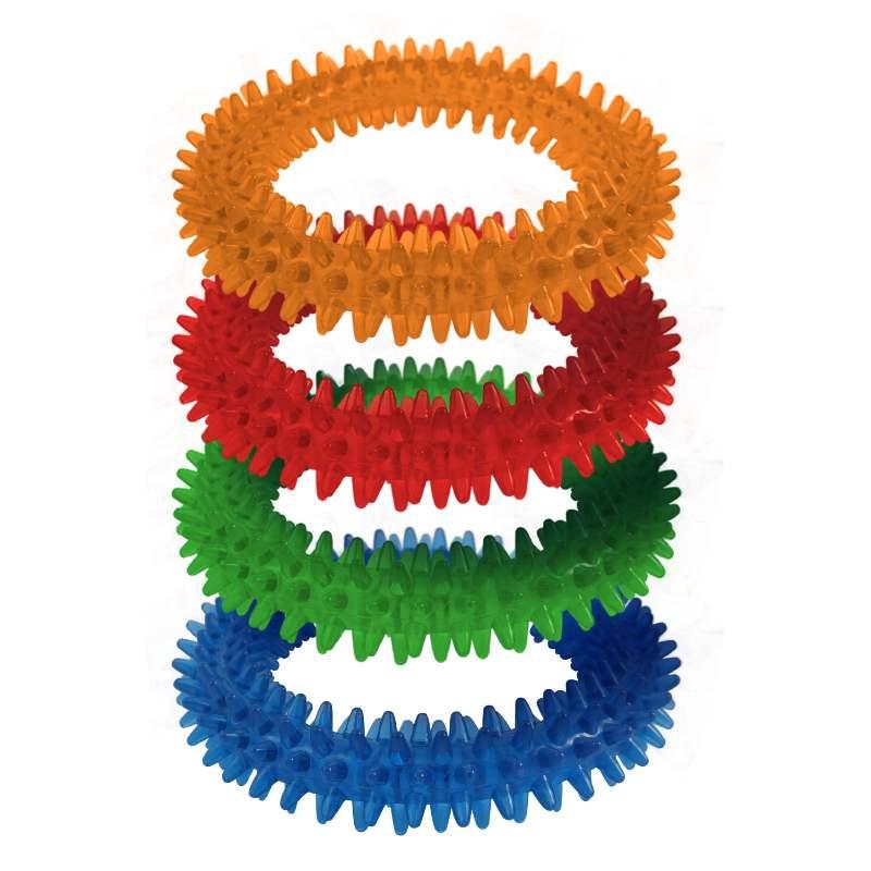 Brinquedo Borracha Anel Mordedor Colors 10cm