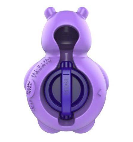Brinquedo Borracha com Snack Hipopotamo