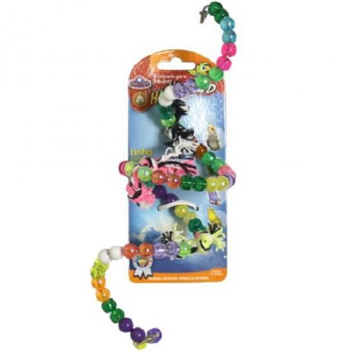 Brinquedo Calopsita Espiral e Nos Missanga 20cm