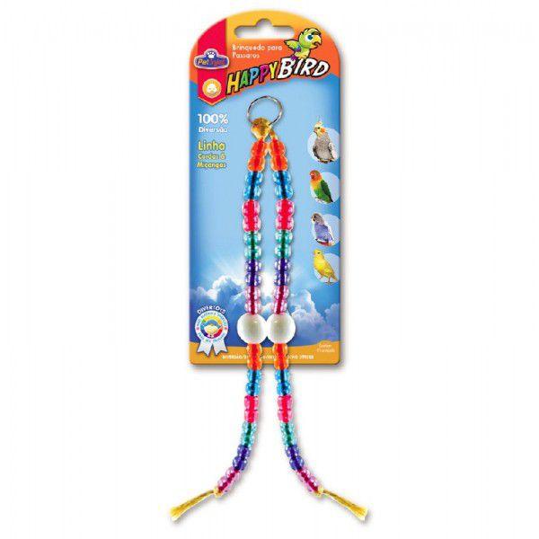 Brinquedo Calopsita Sisal Duplo 2 Bolas 30cm