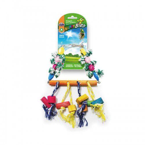 Brinquedo Happy Bird Balanco Chocalho 35cm Para Papagaio