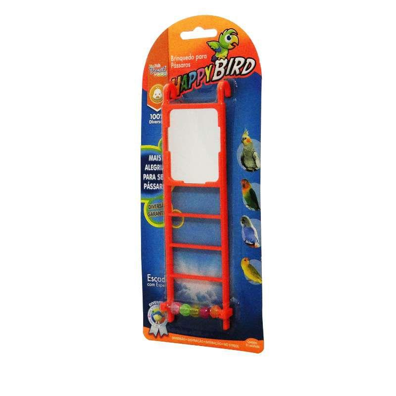 Brinquedo Happy Bird Escada Espelhada The Pets Brasil  20cm