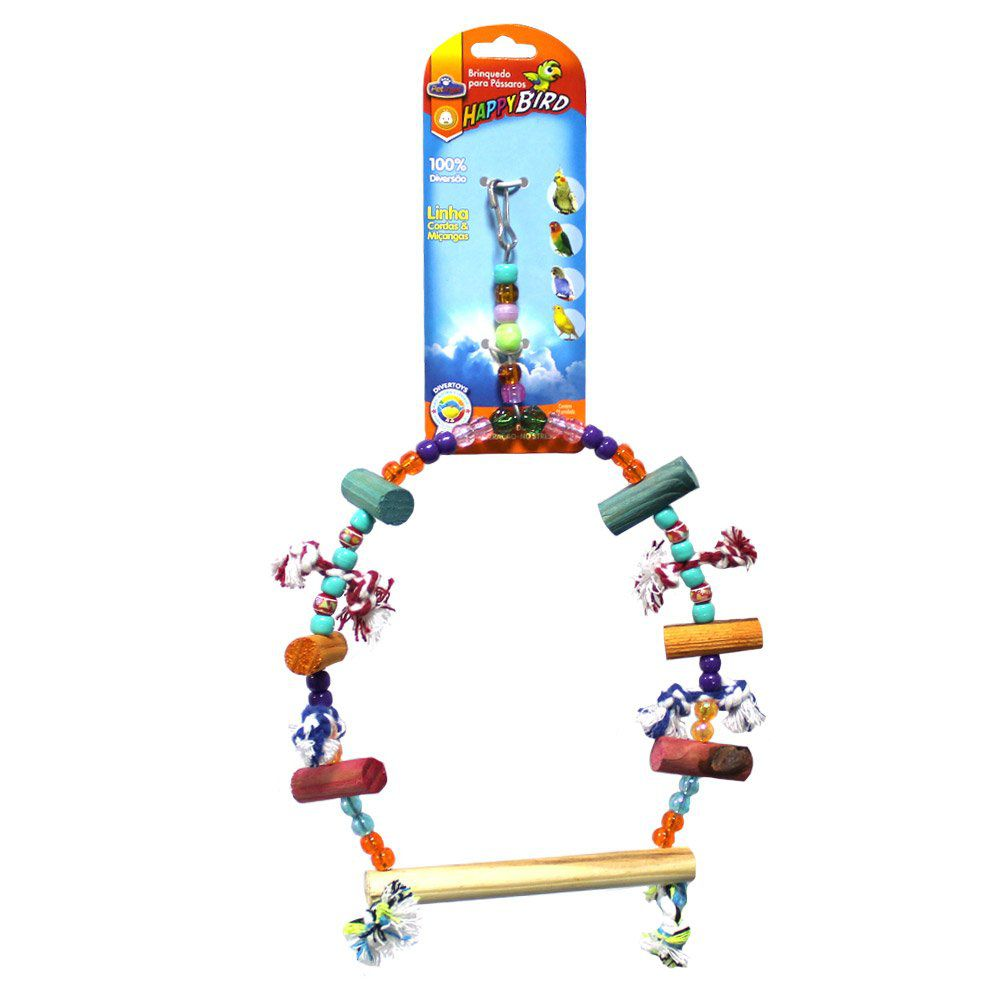 Brinquedo HappyBird Balanco Grande para Calopsita 30cm.