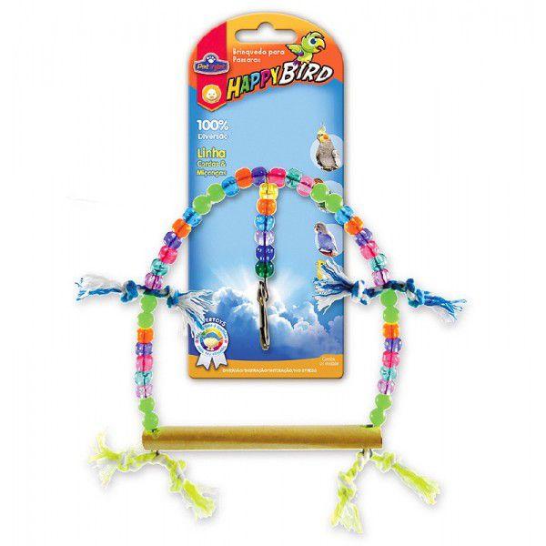 Brinquedo HappyBird Balanco Redondo Grande Calopsita 19cm