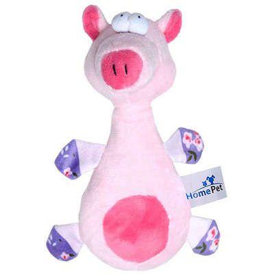 Brinquedo Homepet Pelúcia Porco Rosa 18cm