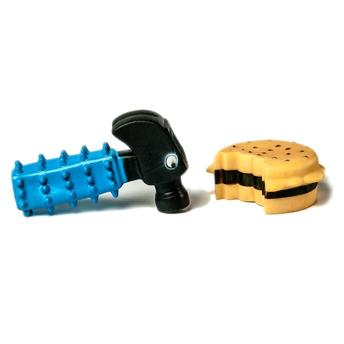 Brinquedo para Cães Martelo e Hambúrguer PetLike