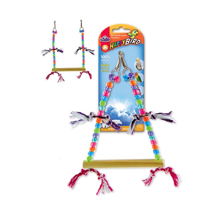 Brinquedo Happy Bird Balanco Trapezio Para Calopsita
