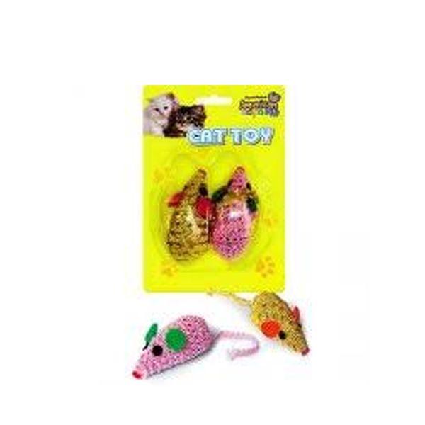 Brinquedo para Gatos Cat Toy Ratinhos PomPom Blister com 2 unidades