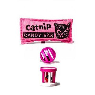 Brinquedo para Gatos Catnip Rosa e Bolas Petlike