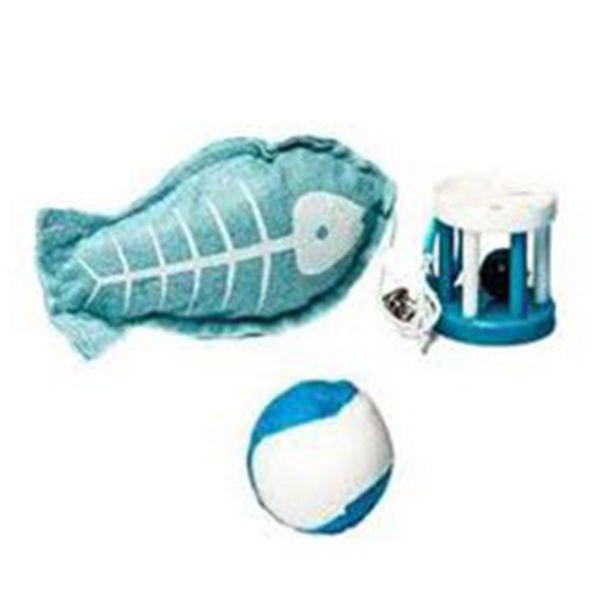 Brinquedo para Gatos Peixe Bola Tenis PetLike