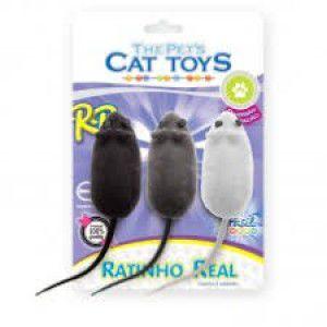 Brinquedo Ratinho Real Blister Com 3 Unidades