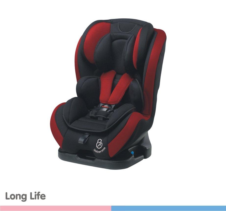 Cadeira para Auto Long Life Preto - Vinho 0 à 36kg - Galzerano
