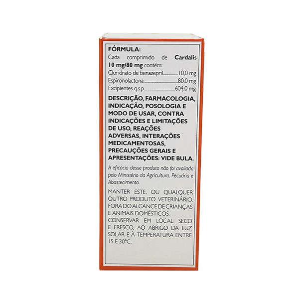 Cardalis Ceva 30 Comprimidos para Cães 10mg/80mg Cães de 21 a 40 Kg