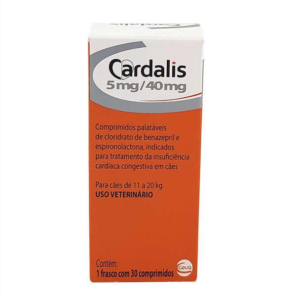 Cardalis Ceva 30 Comprimidos para Cães 5mg/40mg Cães de 11 a 20 Kg