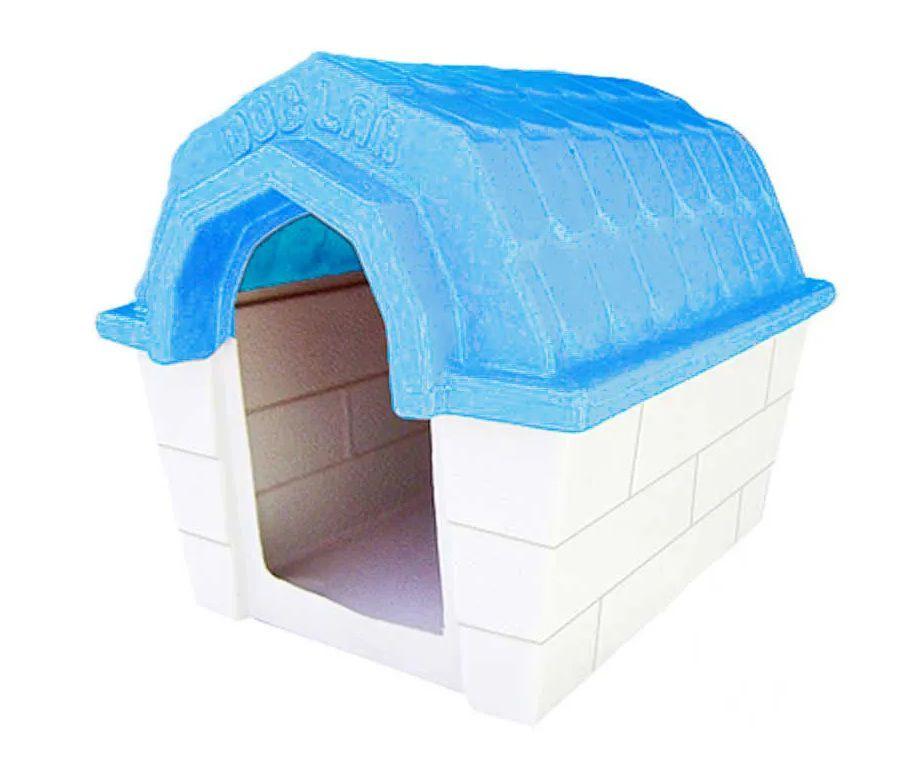 Casa Muvuca Azul Dog Lar N°2 - A: 60cm - L: 55cm - C: 74cm