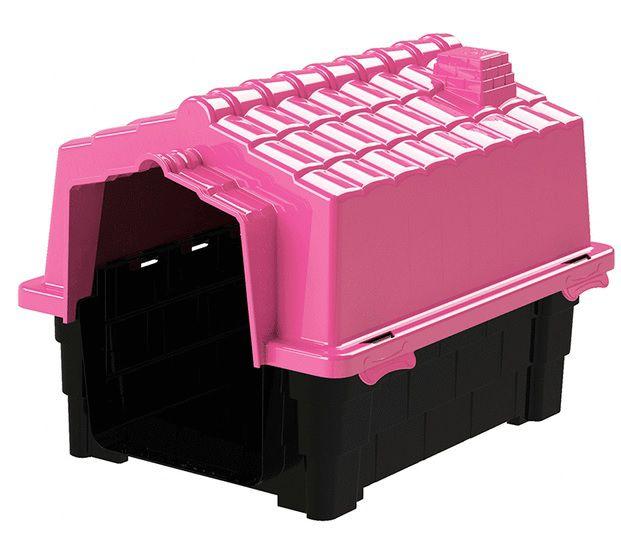Casa Pet Injet Prime Colors Dog House Evolution - N°3 - Rosa - A: 57 cm L: 57 cm C: 65 cm