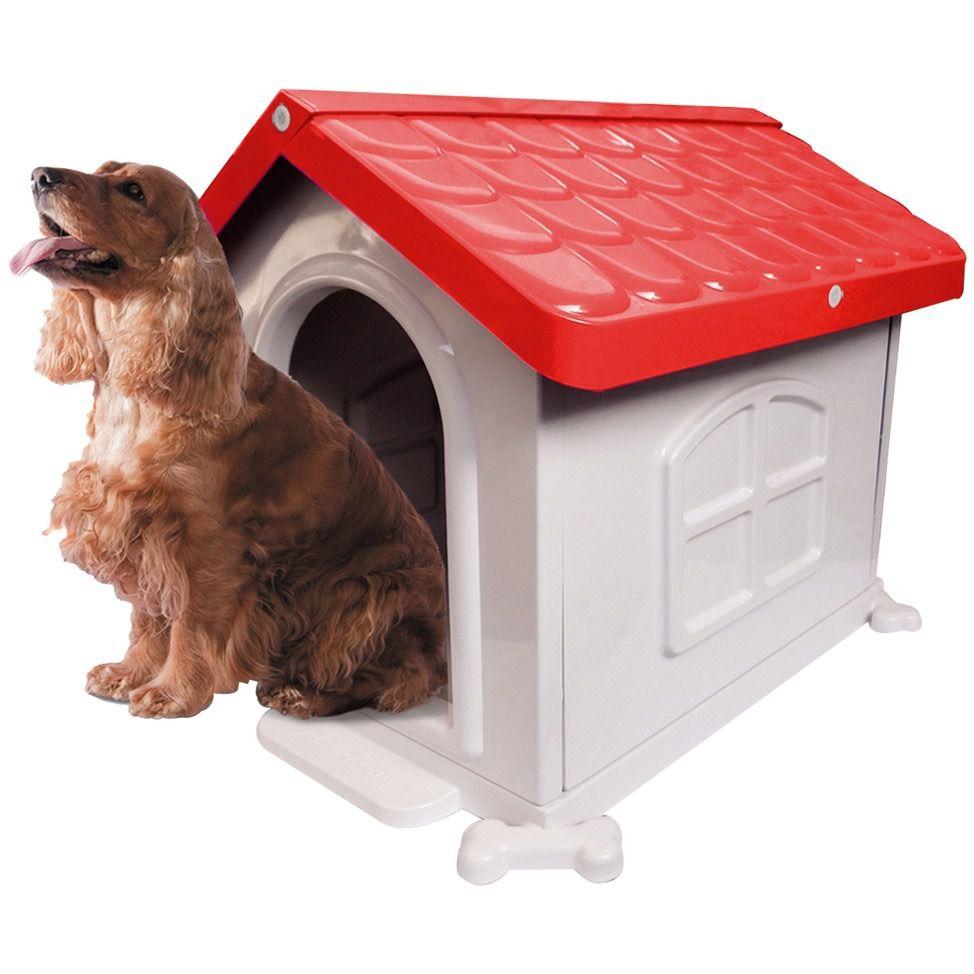 Casa Plastica Desmontável  Pet Injet N2 Vermelha