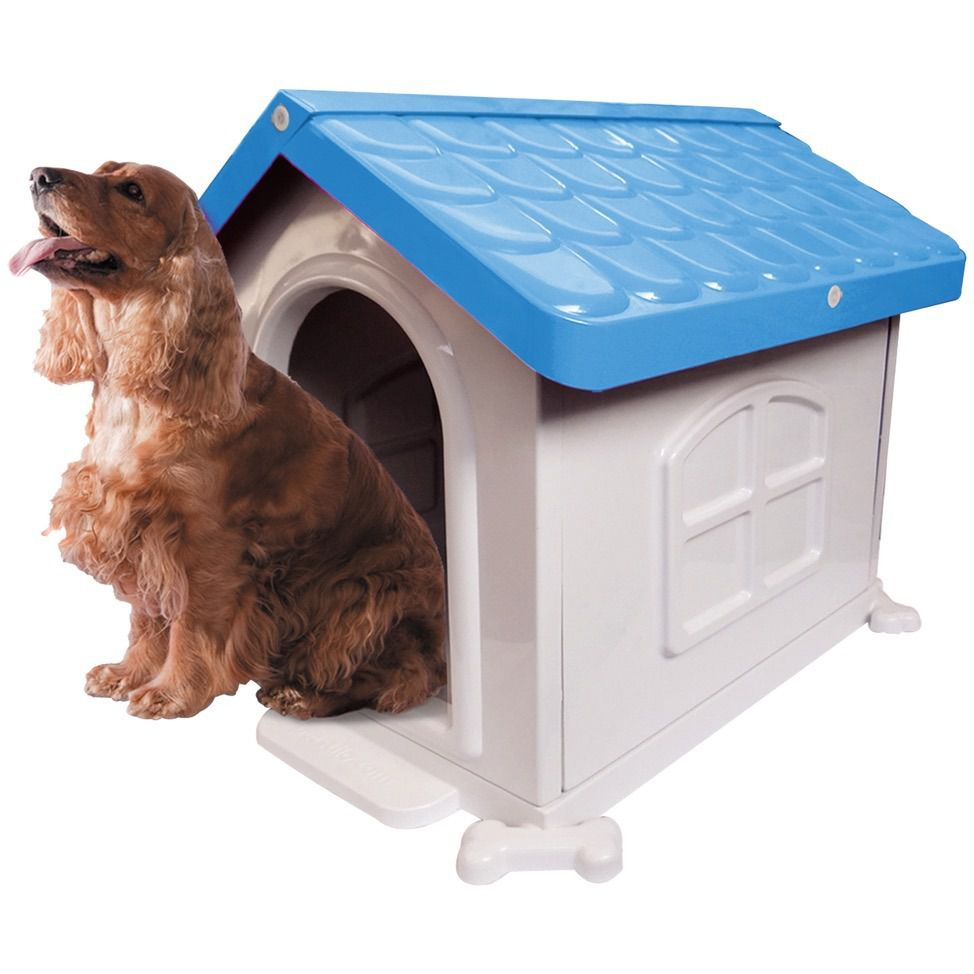 Casa Plastica Desmontável  Pet Injet N3 Azul