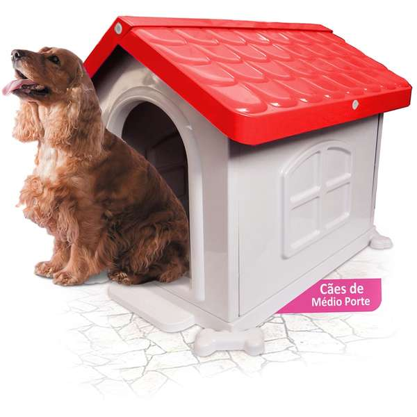 Casa Plastica Pet Injet N3 Vermelha L45 x A60 X C65cm